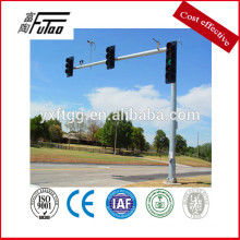 New style traffic light pole and steel traffic signal post