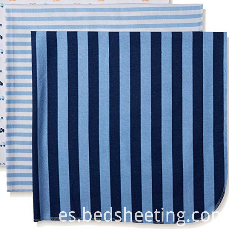 Cotton Flannel Striped Baby Blankets