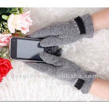 Iphone touchscreen luvas de cashmere