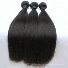 Cabello barato del pelo humano del color natural del 100 por ciento, alta calidad sin sustancia química procesada