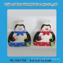 Керамический симпатичный пингвин керамический держатель гигиенической салфетки