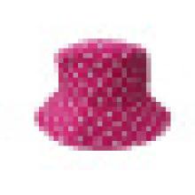 Sombrero del cubo con la tela punteada (BT041)