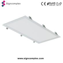 Luz de painéis comercial do diodo emissor de luz do quadrado do alojamento branco magro super