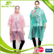 Transparent design clear plastic high visiable disposable eco-friendly rain suit for emergency