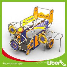 PE Train Design Outdoor Advertising Playground Equipment,kid plastic playground sets LE.PE.004