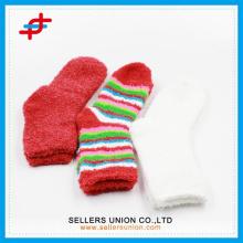 Winter Damen Frottee Mikrofaser gemütliche dicke glückliche Socken