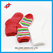 Winter ladies's terry microfiber cozy thick happy socks