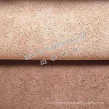 Tissu gaufré 100 % Polyester velours Suede rideau avec Fr enduit