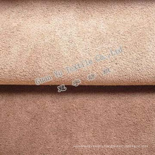 Embossed 100% Polyester Velvet Suede Curtain Fabric with Fr Coated