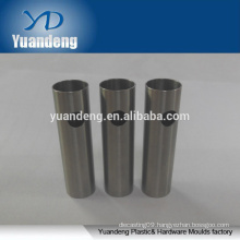 customized cnc turning machine stainless steel tube/pipe for flashlight with hole