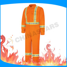 FR tape fluorescent orange fire retardant coverall