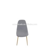 2016 new design modern wood dining chair with cloth seating