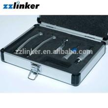 Новый 2шт высокоскоростной наконечник+1 установленное низкоскоростное handpiece Зубоврачебное handpiece набор в металлической коробке