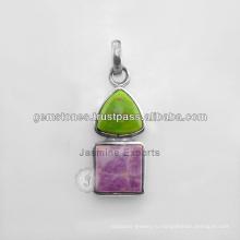 Оптовая стерлингового серебра 925 подвески камень Кулон