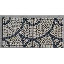 Mosaïque en mosaïque en pierre de marbre en rond (HSM217)