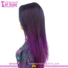 Moda cabelo reto de seda tecer 100% cabelo humano indiano ombre remy fita extensão do cabelo