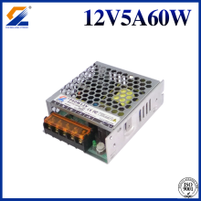 12V 5A 60W Slim Power Supply Untuk Modul LED