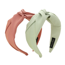 Solid Fabric Knot Hairband for Women Girl Headband for Ladies Feamale Outing Headwear Hair Accessories Dropshipping Bulk