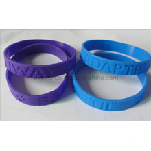 Wristbands Debossed do silicone sem cor
