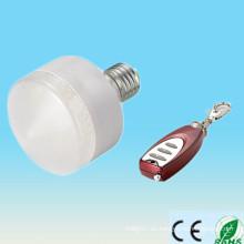 Venta caliente de la fabricación de China RGB 5-6w e27 ip33 llevó el palillo ligero con teledirigido
