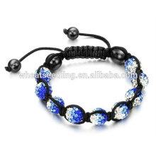 Pulseras cristalinas de la manera personalizadas pulseras de Shamballa