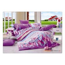 100 Baumwolle 40s 128 * 68 elegante, weiche, hochwertige Pigmentdruck-Luxusbettwäsche