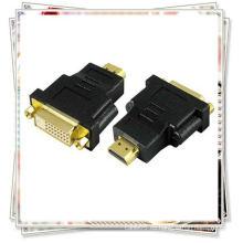 Hembra de DVI F AL CONVERTIDOR HD del ADAPTADOR del MAC de la PC del ORO 1080P de HDMI M