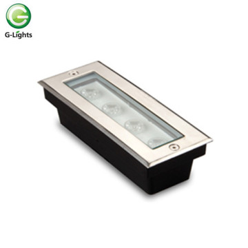 Rectangular 4watt IP65 LED luz subterrânea