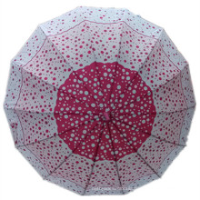 Auto Open Red DOT Printing Straight Umbrella (JYSU-17)