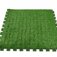interlocking artificial grass puzzle mat tile arabic puzzle soft mat factory directly for sale