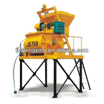 JS750 Twin-shaft Compulsory Concrete Mixing Machine