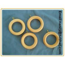 Деревянные кольца из тикового дерева диаметром 35 мм