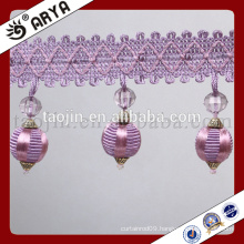 New Competitive products Decoration for Home and Curtain of Handcraft Polyester Yarn Beads Fringe
