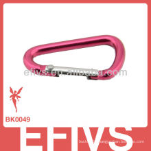 Fashion d shape carabiner with keychain