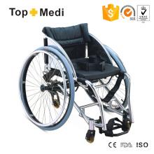 Cadeira de rodas para dança esportiva com estrutura de alumínio