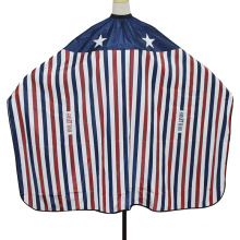 Wholesale American Iconic Flag Styling Salon Barber Hair Cutting Striped Hairdressing Cape for Men