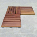 Decking exterior teca ao ar livre da madeira maciça do fornecedor de China da alta demanda com base plástica