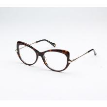 Moderno marco de gafas de acetato de doble color en línea 2018 marco de gafas de acetato