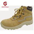 Sapatos de segurança de couro Nubuck de aço