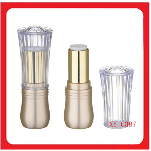 Golden Body Transparent Cap Lipstick Tube