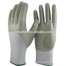 NMSAFETY покрынная половиной нитриловые перчатки