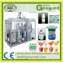 Máquina de iogurte automática completa Linha de processamento de iogurte