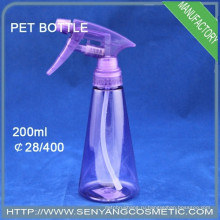 Пластиковая бутылка из ПЭТ 200 мл, бутылка с водой с распылительным насосом