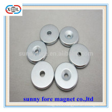 round countersunk rare earth sew in magnets