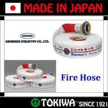 Prevención de desastres manguera de incendio de alto rendimiento. Suministro de agua a mayores distancias. Hecho por la industria de Ashimori