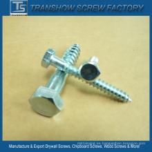 M8 precio más barato DIN571 galvanizó jefes de madera de la cabeza hexagonal del ms