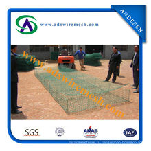 Коробка gabion 4300mm плетения провода с завода, горячее цинкование сетки gabion, Шестиугольная Ячеистая сеть (фабрика)