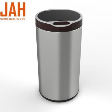 Sensor de patada de acero inoxidable y cubo de basura con sensor infrarrojo