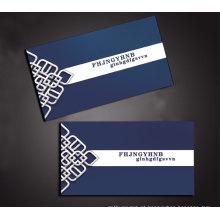 Cartão de visita de visita de negócios transparente plástico personalizado
