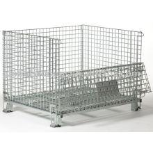 Armazém de armazenamento de gaiolas de malha metálica de serviço médio